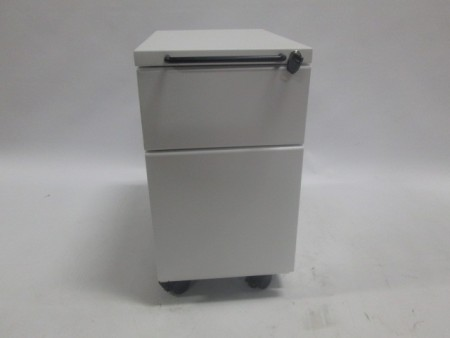 White 2 Drawer Mobile Pedestal