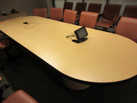 12-ft Oval Maple Conference Table
