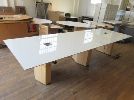 Nucraft 12-Foot Glass Top Conference Table